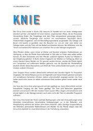 STS-Zirkusbericht 2012; Circus Knie - Schweizer Tierschutz STS