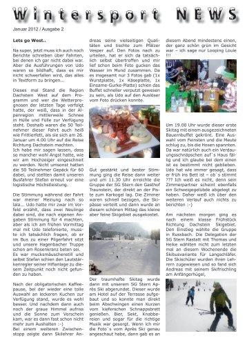 Bericht Dachstein - SG Stern Wörth/Germersheim