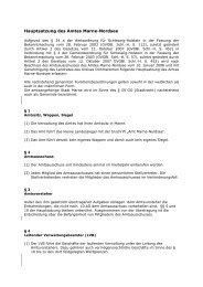 Hauptsatzung Amt Marne-Nordsee 20 02 08
