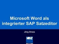 Microsoft Word als integrierter SAP Satzeditor, Herr Drees