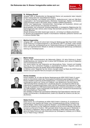 Biografie Gesamt - MSP Medien Systempartner GmbH & Co. KG