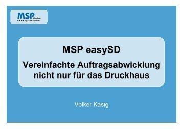 easy SD - Vereinfachte Auftragsabwicklung (0,4 MB)  - MSP Medien ...