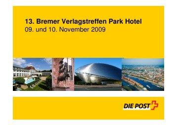 13. Bremer Verlagstreffen Park Hotel