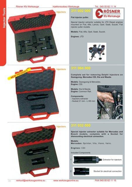 Injector Tools - Rösner KFZ Werkzeuge
