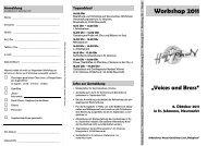 Workshop Flyer 2011 - Bistum Eichstätt