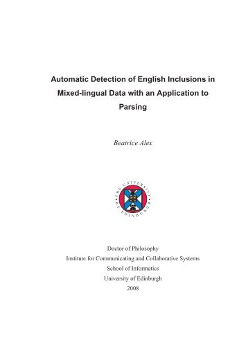 PhD thesis - School of Informatics - University of Edinburgh