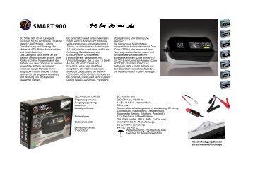 BC Smart 900 ist ein Ladegerät konzipiert für die langfristige ...