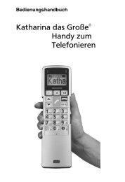 Katharina das Große Handy zum Telefonieren - JET GmbH