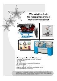 Werkstatttechnik Werkzeugmaschinen Maschinenzubehör