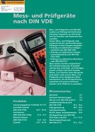 Mess- und Prüfgeräte nach DIN VDE 0113