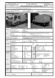 T y p e n b l a t t Dekontaminations-Lastkraftwagen