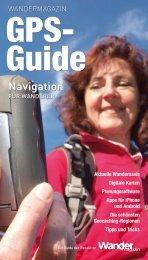 GPS-Pocket-Guide des Wandermagazins - Naviso
