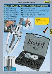 Neues HAZET Abzieh-Werkzeug-Programm