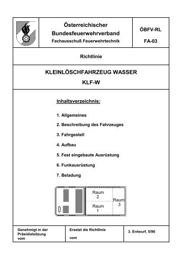 Kleinlöschfahrzeug Wasser KLF-W