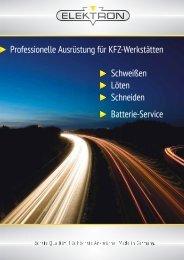 Professionelle Ausrüstung für KFZ-Werkstätten Schweißen Löten ...