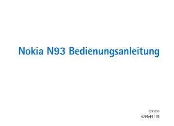 Nokia N93 Bedienungsanleitung - Download Instructions Manuals