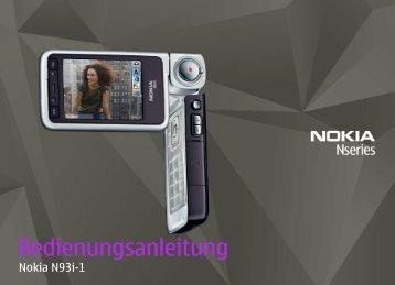 Ihr Nokia N93i - Download Instructions Manuals