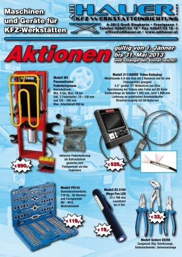 Maschinen und Geräte für KFZ-Werkstätten - ADI HAUER GmbH