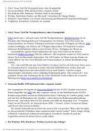 Telefon-Newsletter Nummer 13/05 vom 28.06.2005