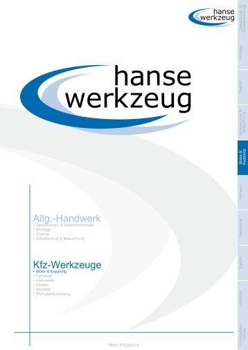 Allg.-Handwerk Kfz-Werkzeuge - hansewerkzeug