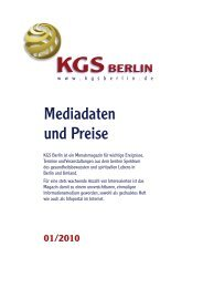 KGS Berlin Mediadaten - Veranstaltungskalender für Körper Geist ...