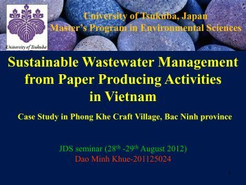 Sustainable Wastewater Management from Paper Making Activities in