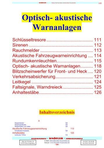 Optisch- akustische Warnanlagen - Knöfler - Feuerschutz