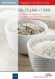 Broteinheiten-Tabelle - Lilly Deutschland GmbH