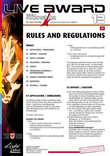 rules-regulations-2012-dt - rocknet.bz
