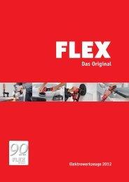 FLEX. Eine Marke. Vier professionelle Anwendungen.