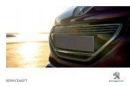 SERVICEHEFT - Services - Peugeot