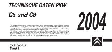 TECHNISCHE DATEN PKW C5 und C8 2004 CAR ... - Citroën Service