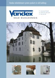 Vandex refurbishment system products in old buildings