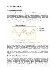 LA LUCE IN ASTRONOMIA - Circolo Astrofili di Milano