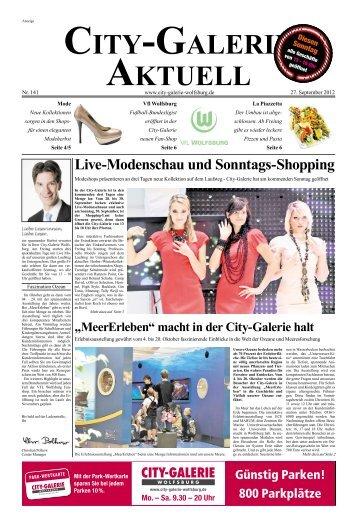Live-Modenschau und Sonntags-Shopping - City Galerie, Wolfsburg