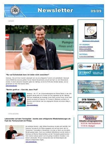 Newsletter Ausgabe 09/2009 - Deutscher Tennis Bund