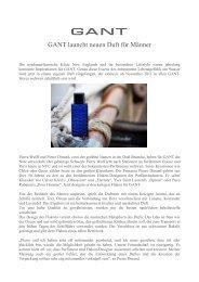 GANT launcht neuen Duft für Männer - bei Brieftaube