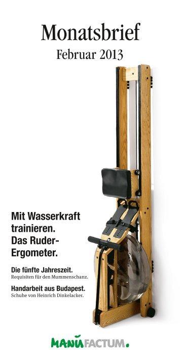 Monatsbrief - Manufactum