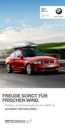 FREUDE SORGT FÜR FRISCHEN WIND. - BMW Schubert Motors
