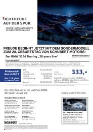 DER FREUDE AUF DER SPUR. - BMW Schubert Motors