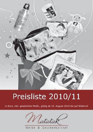 Preise - Matatak Deutschland eK