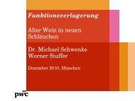 Funktionsverlagerung Alter Wein in neuen Schläuchen Dr. Michael ...