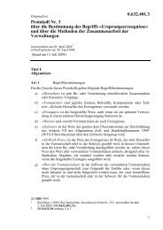 Protokoll Nr. 3 über die Bestimmung des Begriffs ... - LexFind