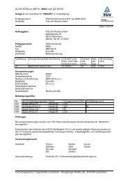 GUTACHTEN zur ABE Nr. 46843 nach §22 StVZO Anlage 2 zum ...