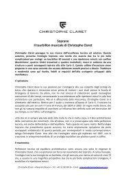 Soprano Il tourbillon musicale di Christophe Claret