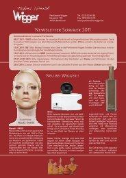Newsletter Sommer 2011 - Parfümerie Wigger