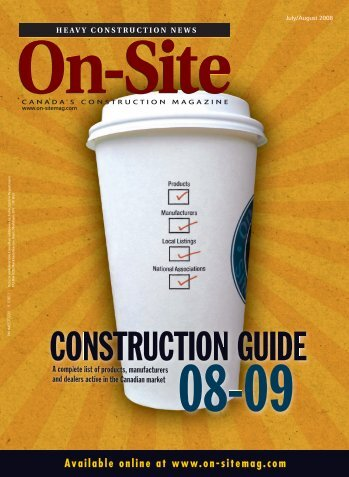 CONSTRUCTION GUIDE - On-Site Magazine