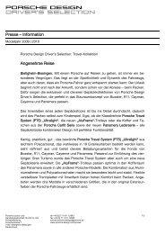 Presse - PORSCHE DESIGN Presseportal