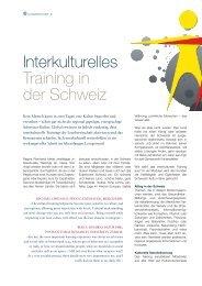 Interkulturelles Training in der Schweiz - Regina Reinhardt ...