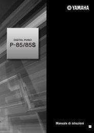 P-85/P-85S Owner's Manual - Scavino